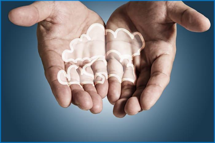 home health cloud computing hands