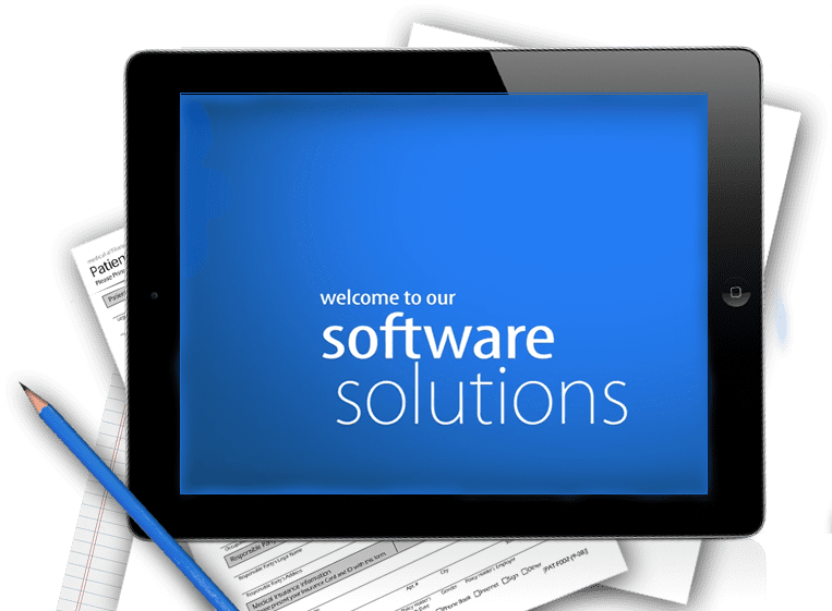 home health software solutions on iPad